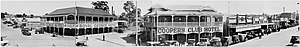 Nambour, Queensland - Panoramic view of Currie Street in Nambour circa 1932