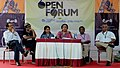 Film maker Ira Bhaskar addressing at the open forum at the 43rd International Film Festival of India (IFFI-2012), in Panaji, Goa. The Director, IFFI, Shri Shanker Mohan, Pan Nalin.jpg