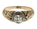 Fingerring av guld med briljant, 1700-tal - Hallwylska museet - 110176.tif