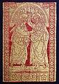 Firenze, tessuto con incredulità di s. tommaso, in lampasso lanciato, con seta e oro filato, 1490 ca.jpg