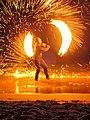 Fireshow beach Koh Lanta, Thailand - Feuershow (19939587108) (2).jpg