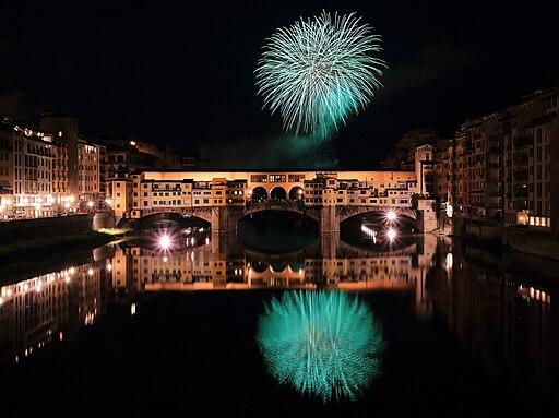 Fireworks over Ponte Vecchio 2