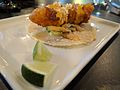 Fish taco at Travail restaurant's Spotlight dinner 02.jpg