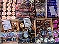 Fiskebryggen, Mathallen, Fishmarket, Bergen, Norway 2018-03-16. Norwegian salmon caviar in cans, sennepssaus etc. for sale at Fish Me store.jpg