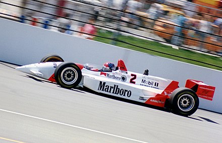 Emerson Fittipaldi driving the Penske PC-23 at the 1994 event Fittipaldi indy.jpg