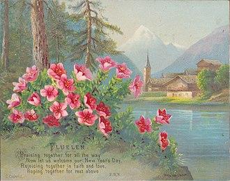 Helga von Cramm - Image: Flüelen, Uri, by Helga von Cramm, with prayer by F.R. Havergal, chromolithograph, c. 1880