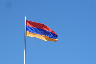 Flag of Armenia in Yerevan.JPG