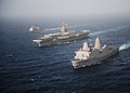 Flickr - Official U.S. Navy Imagery - USS New York, USS Abraham Lincoln and USS Cape St. George transit in formation..jpg