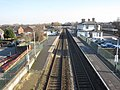 Flint railway station with no trains - geograph.org.uk - 1737800.jpg