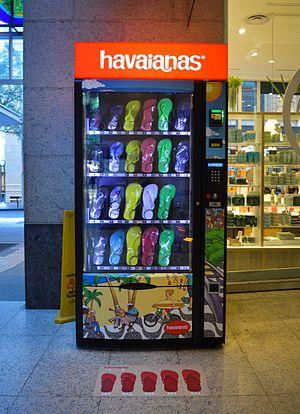 Flip-flops - Havaianas thong (flip-flop) vending machine in Sydney, Australia