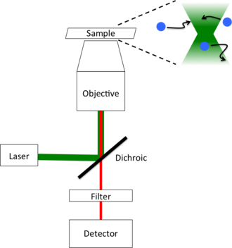 Fluorescence correlation spectroscopy - Typical FCS setup