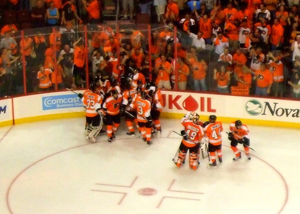 Flyers win game 3 in OT in the 2010 Stanley Cup Finals