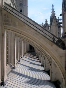 Buttress Wall Design Example : The flying buttresses of the Washington National Cathedral