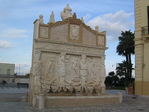 "Gallipoli, Apulia - The ""Greek"" Fountain."