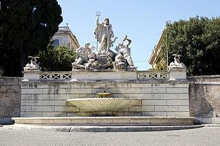 Fontana del Nettuno, Piazza del Popolo