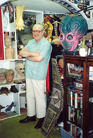 Forrest J Ackerman - Forrest J Ackerman at the Ackermansion