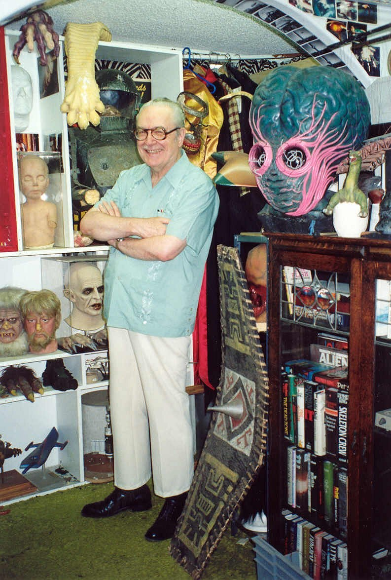 Forrest J Ackerman at the Ackermansion