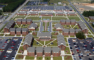 Fort Bragg - Barracks of the 1st Brigade, 82nd Airborne Division at Fort Bragg