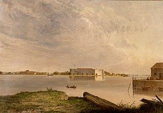 Fort Delaware State Park - Fort Delaware, Delaware by Seth Eastman (1808-1875), painted 1870-1875