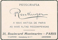 Fotografia Reutlinger - A mais antiga de Paris - As mais altas recompensas - 21, Boulevard Montmartre - Paris.png