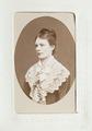 Fotografiporträtt på Gertrud de Benoit, 1800-talets andra hälft - Hallwylska museet - 107647.tif