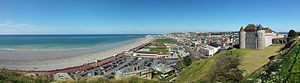 Dieppe - Panoramic view of Dieppe (taken from a hill close to the castle Château de Dieppe)