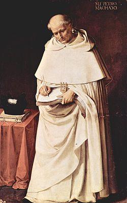 Francisco de Zurbarán's painting of a Dominican monk, Fra Pedro Machado.