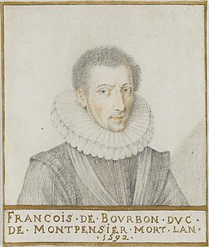 François, Duke of Montpensier - François de Bourbon by Thierry Bellange