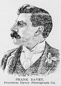 Frank Davey, Advertiser sketch, 1897.jpg