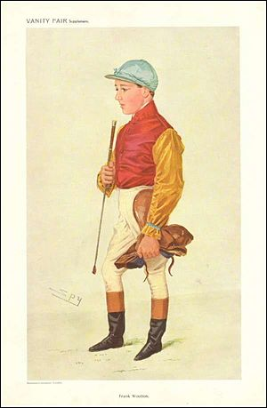 Frank Wootton (jockey) - Caricature by Spy from Vanity Fair in 1909.