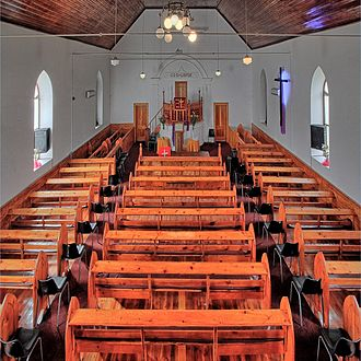 Dutch Reformed Church, Franschhoek - A view of the interior of the church.