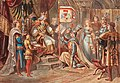 Franz Gaul - King Rudolf I. enfeoffing his two sons Albrecht und Rudolf II with the duchies Austria, Styria, Carinthia and Carniola.jpg