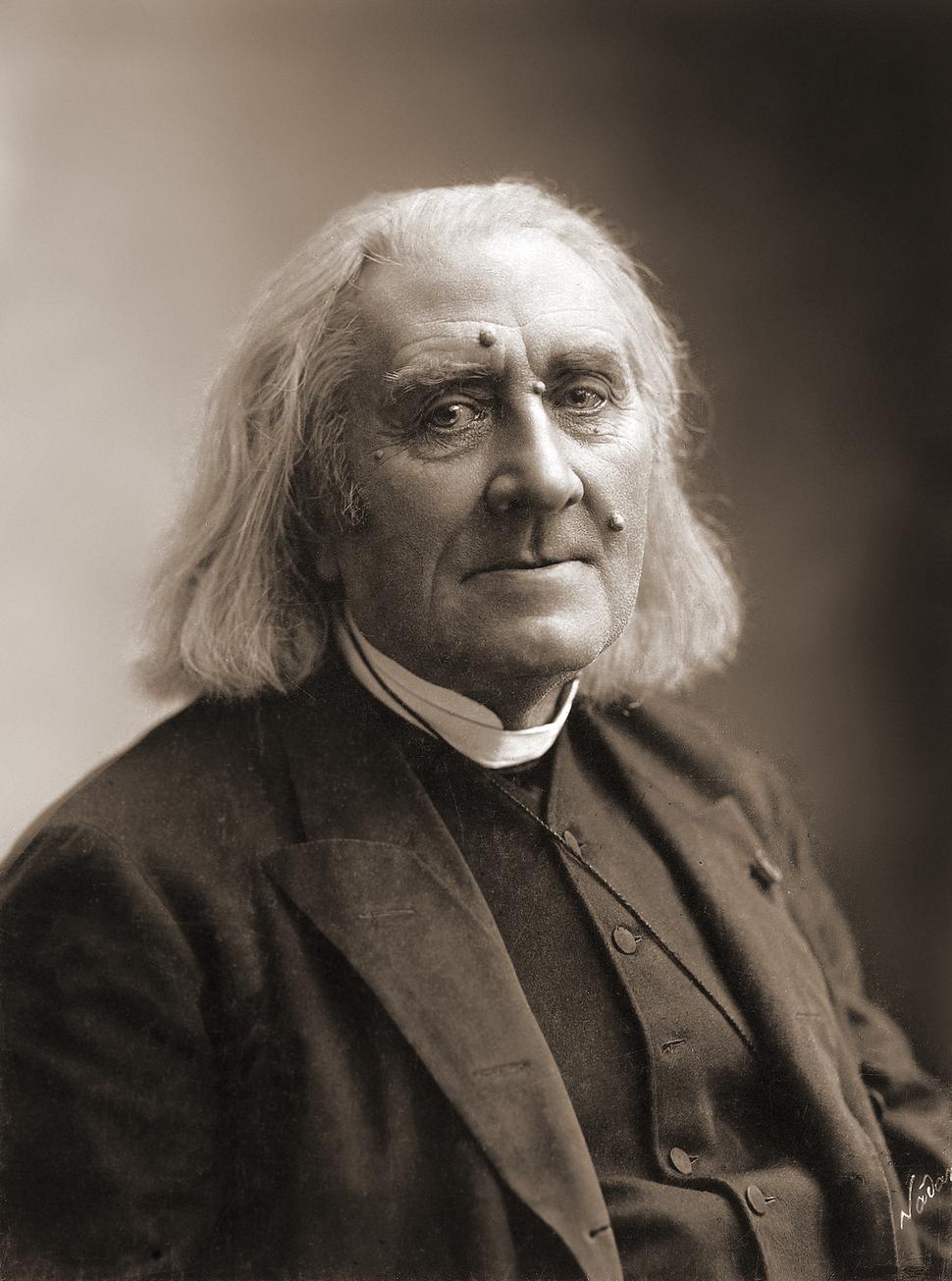 Franz Liszt by Nadar, March 1886
