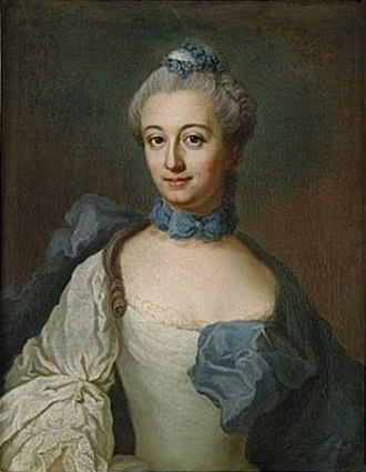 1764 in Sweden - Fredrika Staël by Stålbom