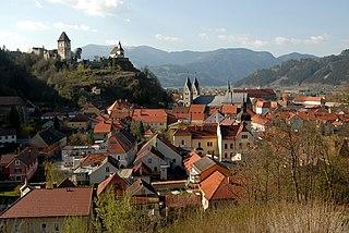 Friesach Place in Carinthia, Austria