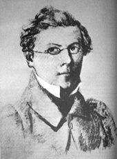 Fritz Reuter im Selbstbildnis, 1833 (Quelle: Wikimedia)