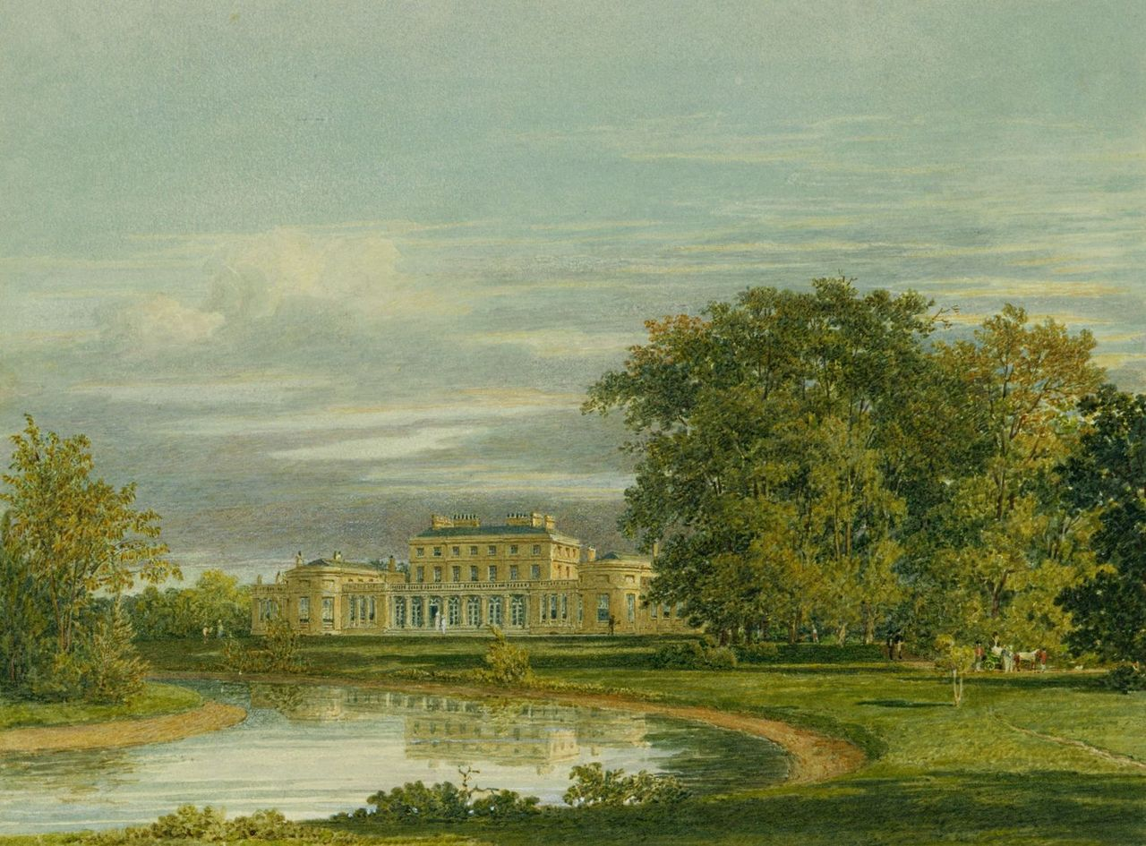 Frogmore House, Garden Front, by Charles Wild, 1819 - royal coll 922118 257037 ORI 0 0.jpg