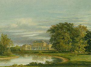 Charles Wild - Frogmore House, Garden Front, watercolour by Charles Wild, 1819
