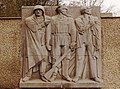 From the Memorial to Polish Soldiers and German Anti-Fascists showing figures of a Polish and Red Army soldier together with a German resistance fighter. (51117536102).jpg