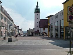City centre in Fürstenwalde