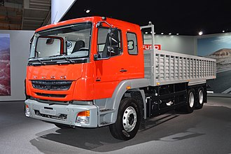 Mitsubishi Fuso Truck and Bus Corporation - Fuso FJ rigid truck, made in India, at the International Motor Show 2014 in Hanover, Germany