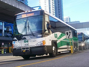 Scarborough Centre Bus Terminal - GO Transit MCI bus at the terminal