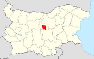 Gabrovo Municipality - Image: Gabrovo Municipality Within Bulgaria