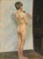 Gad Frederik Clement - En rygvendt dreng med en fløjte - 1903.png