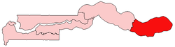 Location of Upper River Division in the Gambia