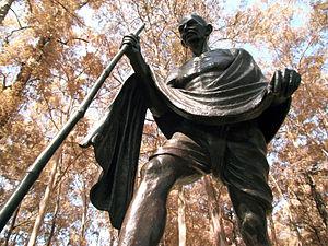 Ibirapuera Park - Gandhi, Praça Túlio Fontoura Sculpture by Gautam Pal