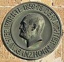 Gedenkplakette für Wilhelm Ganzhorn am ehemaligen Oberamtsgericht Neckarsulm