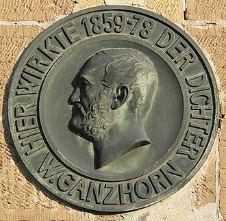 Neckarsulm - Ganzhorn plaque in Neckarsulm