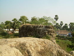 Remains of the fort of the Kol rulers. One of the boundaries of the fort is visible in this picture.