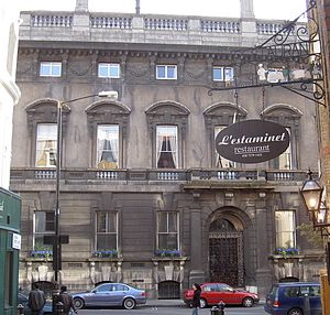 Frederick Marrable - The Garrick Club, in its smoke-blackened state before the cleaning.